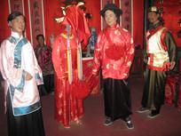 清代结婚人物蜡像