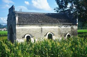 乡村古建筑风景图片