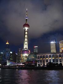 璀璨的东方明珠高塔