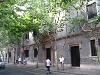 一大旧址外的梧桐树