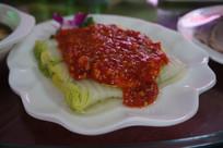 剁椒盖白菜