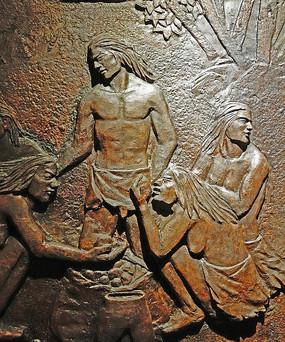 浮雕壁画: 古人类