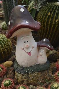 可爱的蘑菇母子