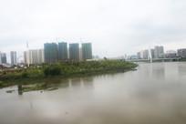 信丰桃江河风景