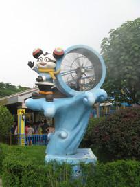 熊猫飞行员雕塑