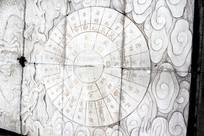 花岗岩石雕刻的八卦图