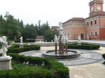 欧式园林与小天使雕塑