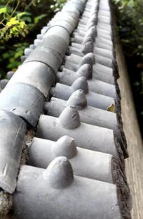 寺庙的琉璃瓦围墙