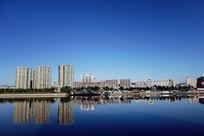 延吉市区布尔哈通河城市风光