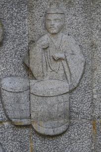 古代人像浮雕艺术图片
