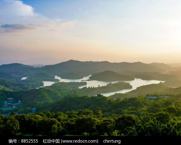 惠州红花湖鸟瞰风光图片