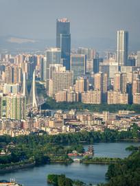 惠州西湖与江北城市建筑风光
