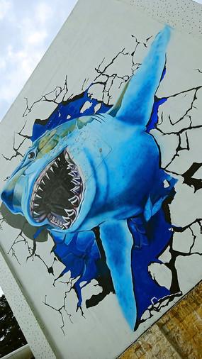 威海街头3D涂鸦