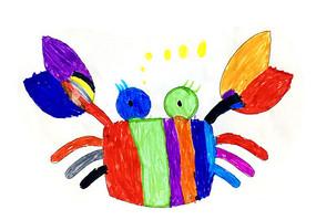 彩色卡通螃蟹