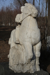 石雕雕骑士
