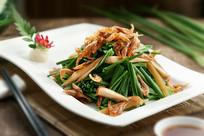 有机虾干炒韭菜