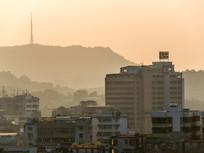 惠州老城区建筑与高榜山