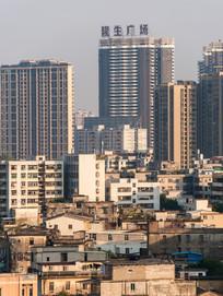 惠州新建筑与老建筑对比风光