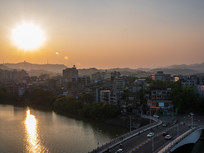 惠州西枝江与市区建筑