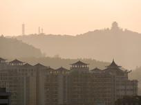 远眺惠州城市建筑与高榜山