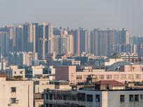 远眺惠州惠城区建筑风光