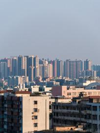 远眺惠州新老建筑