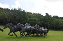 解放的雕塑作品马石雕