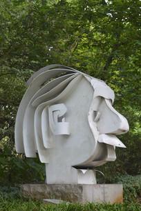 爱因斯坦雕塑小品