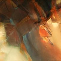 高雅抽象油画