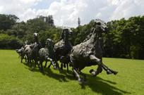 奔跑的马群青铜雕塑作品