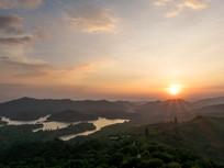 惠州红花湖的夕阳