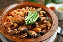 明虾湖蟹煲