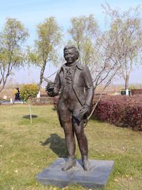 雕像音乐家莫扎特