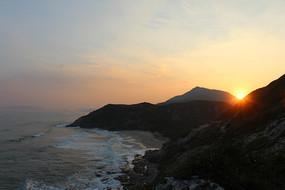 黑排角海滩日落