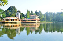 湖泊园林古建筑风景