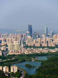 惠州西湖沿岸建筑风光