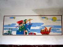 少数民族乐器绘画