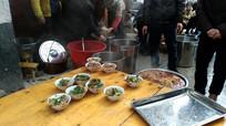 侗族集体伙食厨房里的菜