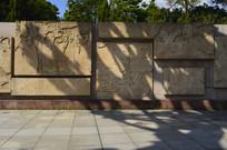 纪念抗非医护纪实画面浮雕墙