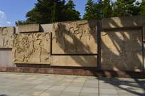抗非典医护纪实画面浮雕墙