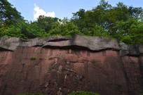 墙上的南州风采浮雕