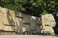 医护人员雕像抗非纪实浮雕墙