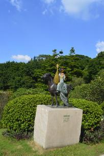 昭君出塞人物雕塑