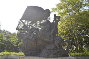 壮丽诗篇抗日战士人物铜雕