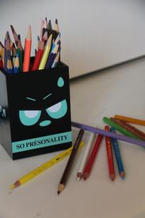 彩色铅笔摆拍