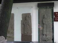 汉代浮雕武士俑石碑