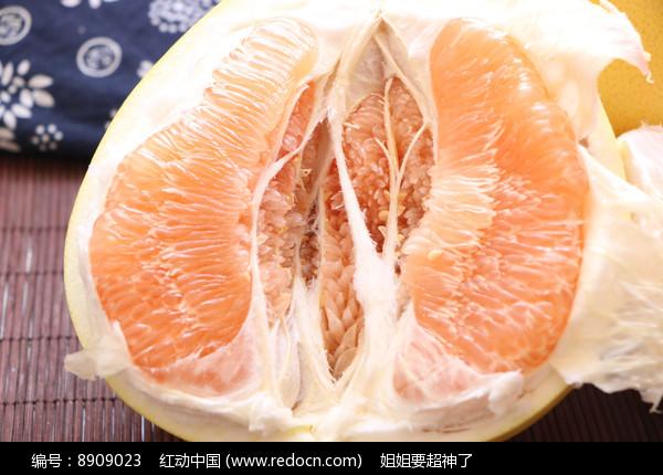 黄心柚子特写图片