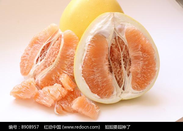蜜柚白底图片