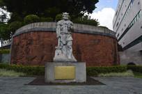 炎帝雕像和炎帝贡献浮雕墙