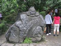 张飞石刻雕像